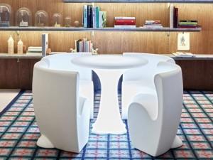 Myyour Community 4 tavolo con led e sedie 12110COMM