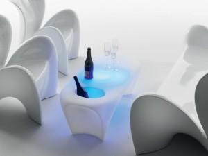 Myyour Lily tavolo con led RGB e spumantiera 10512LILY