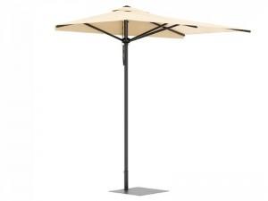 Ombrellificio Veneto City Legno mezzo ombrellone 200x400cm CITY