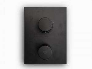Paffoni Light miscelatore termostatico doccia con deviatore LIQ518NO - Nero Opaco