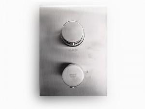 Paffoni Light miscelatore termostatico doccia con deviatore LIQ518ST - Simil Acciaio Spazzolato