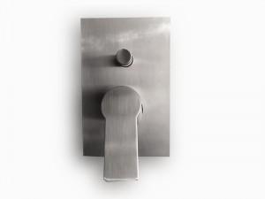 Paffoni Tango rubinetto doccia monocomando con deviatore TA015ST - Simil Acciaio Satinato