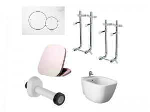 Rak e Geberit sanitari sospesi kit bagno completo