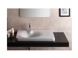 Scarabeo Fuji 80AR lavabo da incasso con mensola a destra 6014