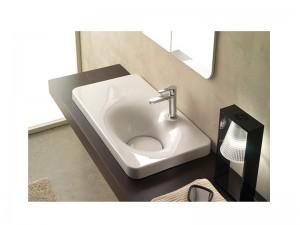 Scarabeo Fuji 80AR lavabo da incasso con mensola a sinistra 6015