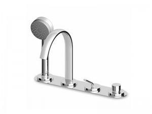 Zucchetti Isyfresh rubinetto vasca monocomando 4 fori con doccetta ZP2169