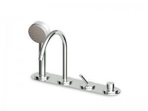 Zucchetti Isystick rubinetto vasca 4 fori con doccetta ZP1157
