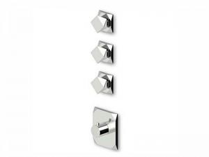 Zucchetti Wosh miscelatore termostatico doccia con 3 rubinetti d'arresto ZW5661