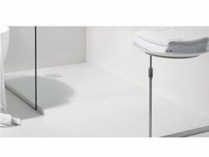 Zucchetti Kos Silkstone Tray piatto doccia reversibile con scarico laterale 80cm
