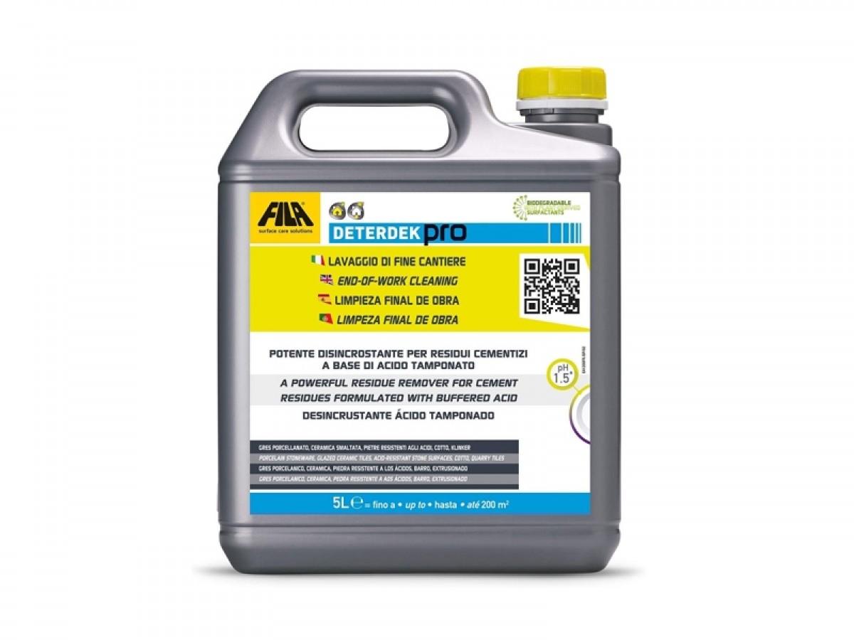 Fila Deterdek Pro 5L detergente disincrostante per residui cementizi DETERDEKPRO5