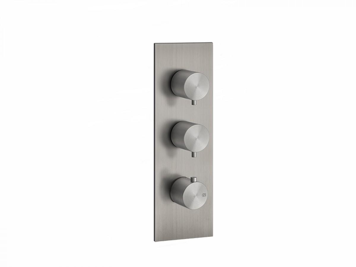 Gessi 316 Wellness miscelatore termostatico doccia con 2 rubinetti d'arresto 54514