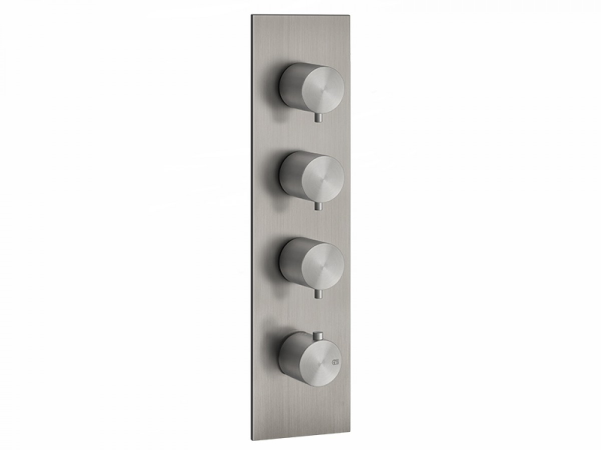 Gessi 316 Wellness miscelatore termostatico doccia con 3 rubinetti d'arresto 54516