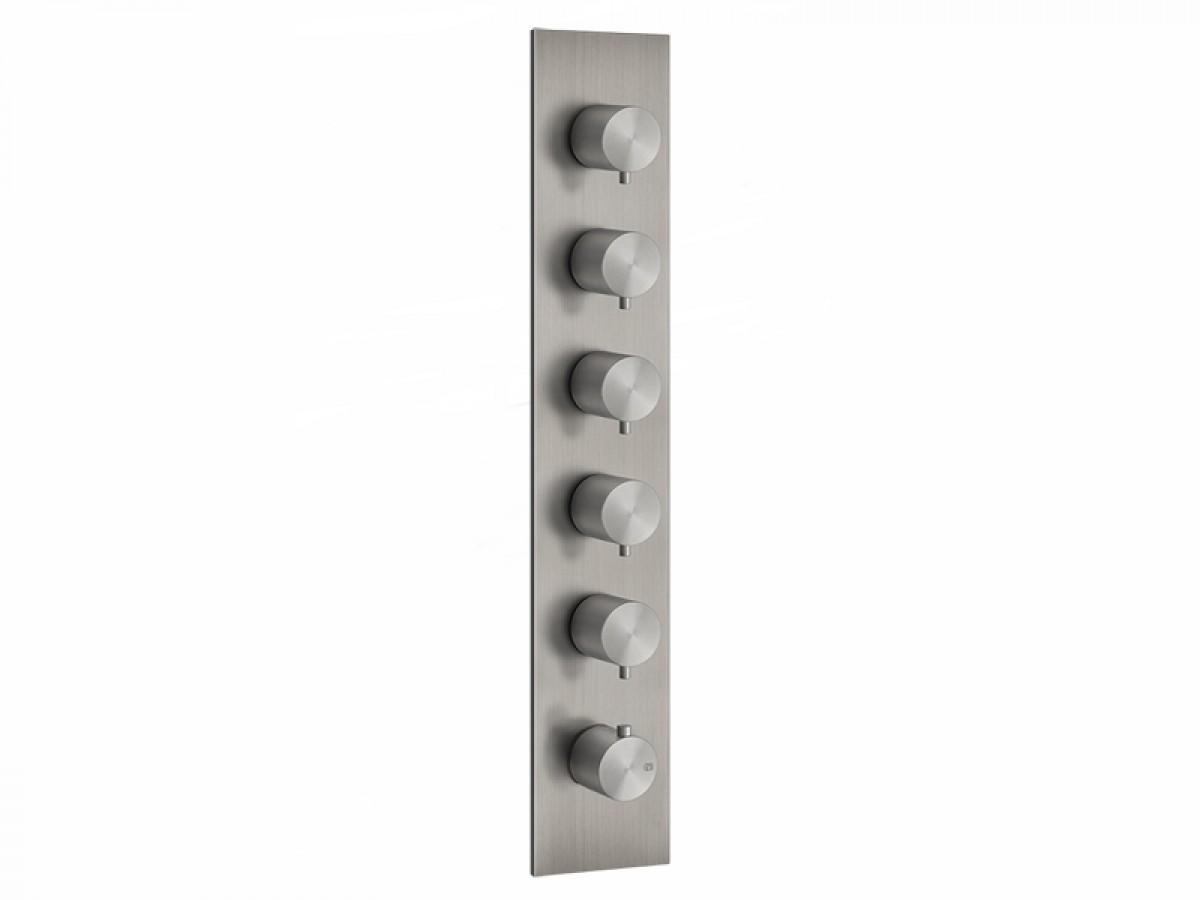 Gessi 316 Wellness miscelatore termostatico doccia con 5 rubinetti d'arresto 54520