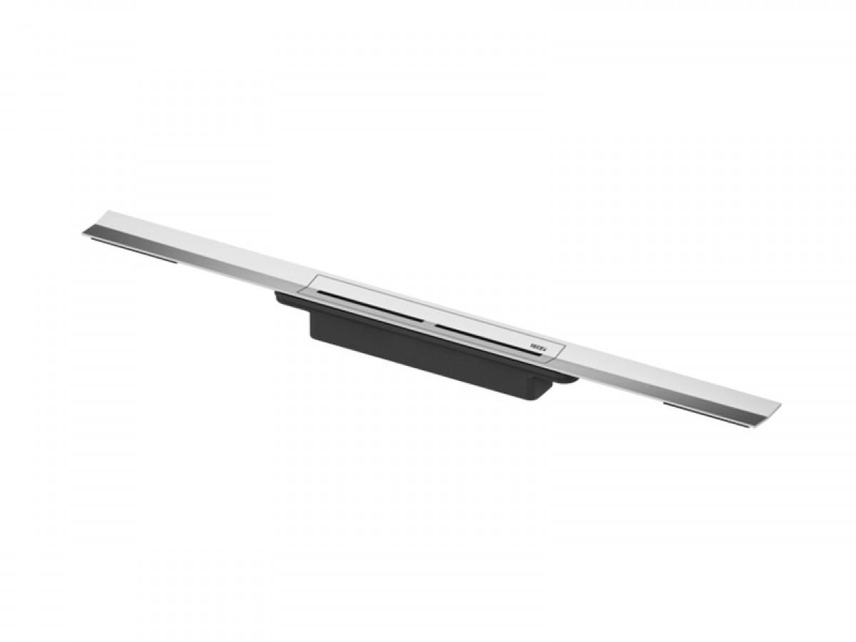 Tece Drainline canalina completa 1000mm con pozzetto 671010 - Acciaio Lucido