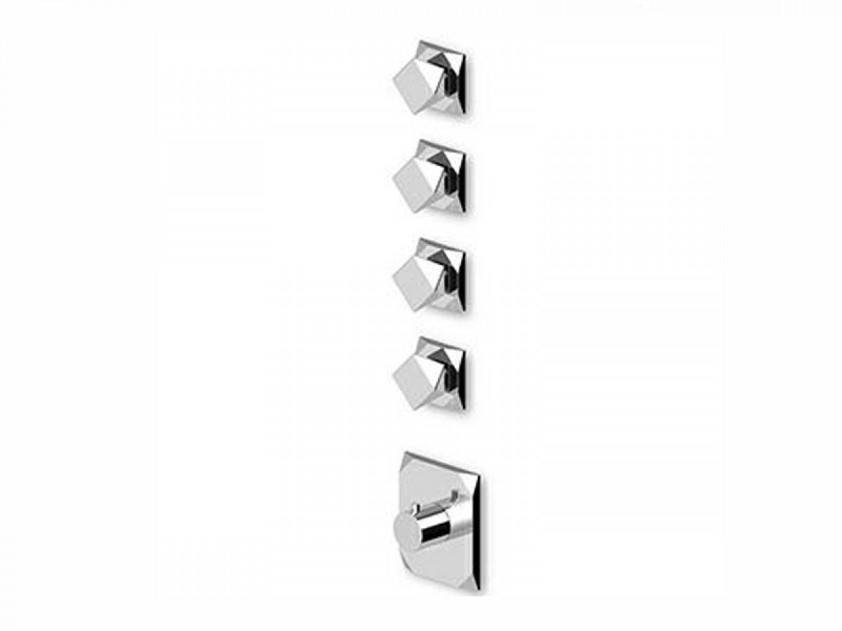 Zucchetti Wosh miscelatore termostatico doccia con 4 rubinetti d'arresto ZW5662